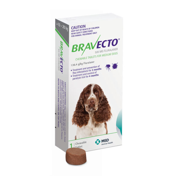 Bravecto Green Chew for Medium Dogs - Single 1