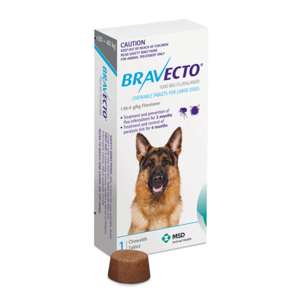 Bravecto Blue Chew for Large Dogs - Single 1