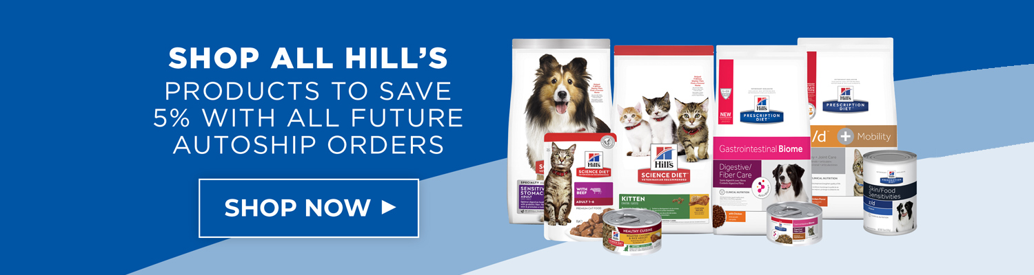 Save on Hill's Prescription Diet and Science Diet